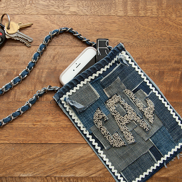 No Sew Denim Mini Bag 630