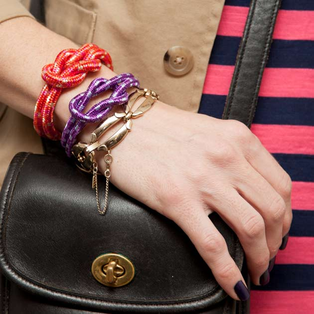 DIY Knotted Rope Bracelet by Trinkets in Bloom
