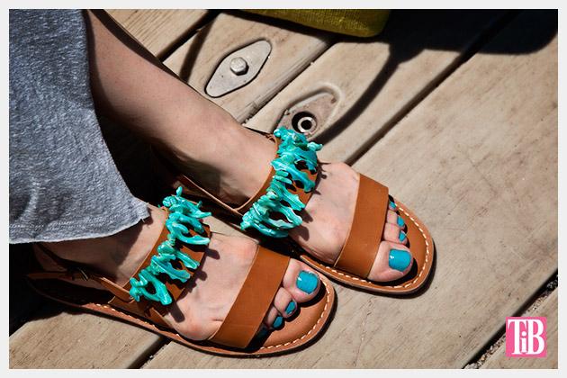 Embellished Sandals DIY by Trinkets in Bloom