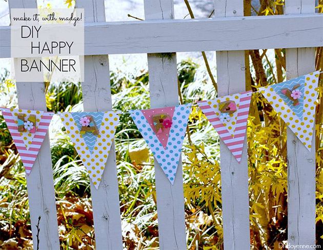 DIY Happy Banner by Margot Potter
