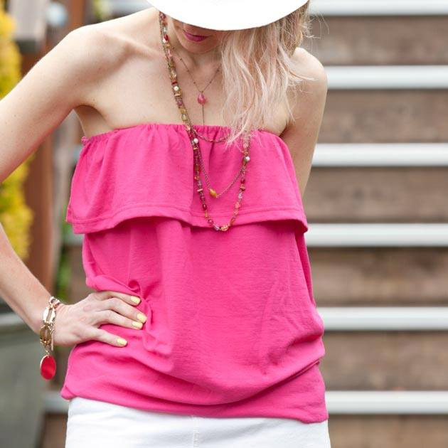 Ruffled Tube Top DIY by Trinkets in Bloom
