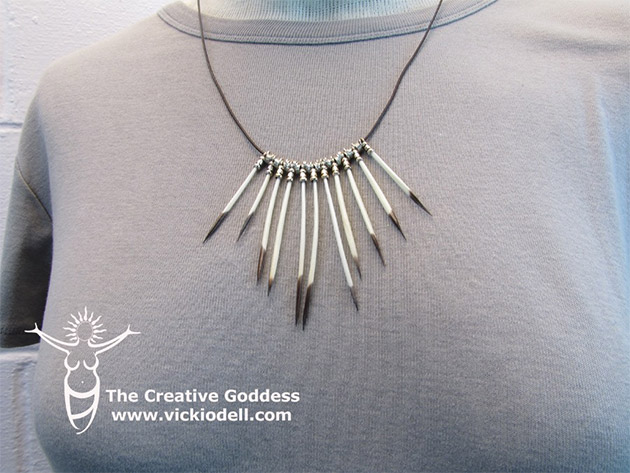 Porcupine Quill Necklace by The Creative Goddess