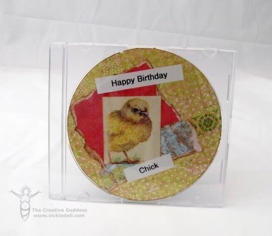 Happy Birthday Chick - Recycled DIY Card by Vicki O'Dell