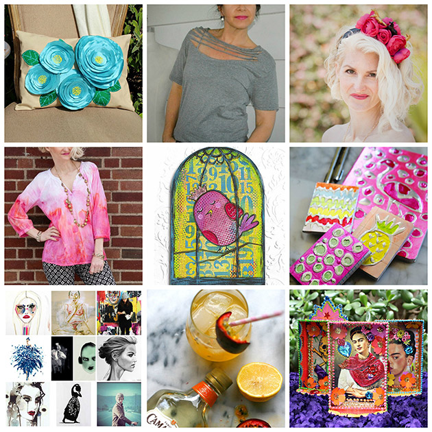 ThursDIY Color and Creativity roundup on Trinkets in Bloom