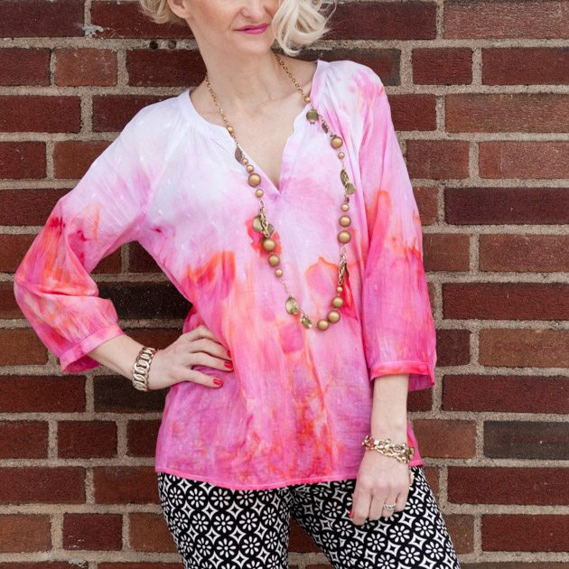 Ice Dyed Tunic by Trinkets in Bloom
