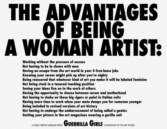 Guerrilla Girls Women Artists