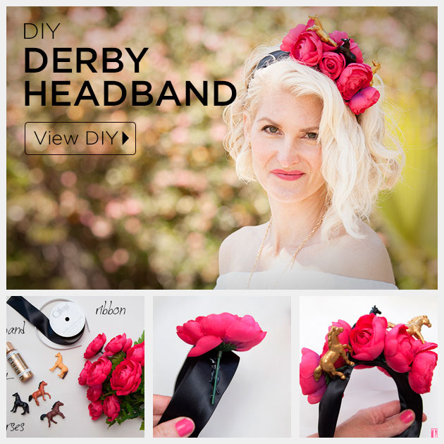 DIY Kentucky Derby Headband Feature by Trinkets in Bloom