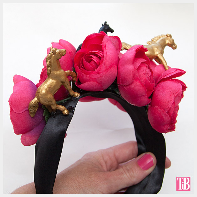 DIY Kentucky Derby Headband finished back by Trinkets in Bloom