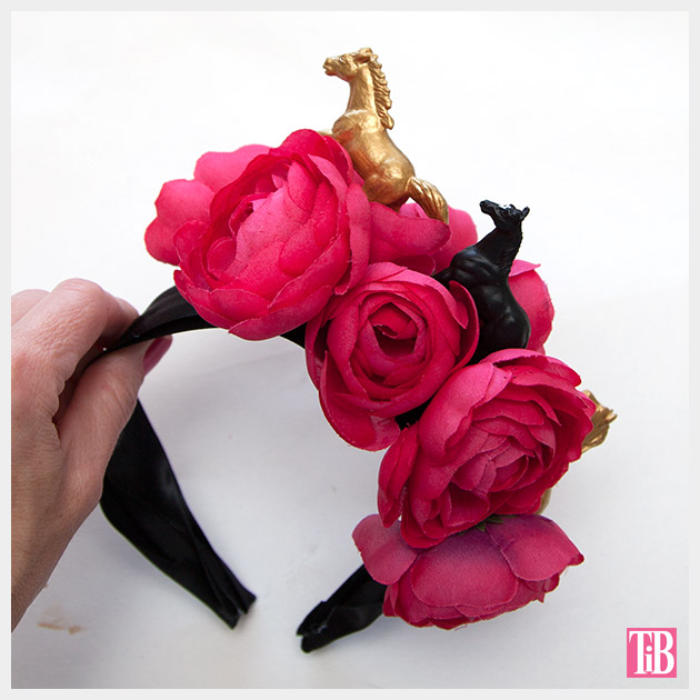DIY Kentucky Derby Headband finished by Trinkets in Bloom