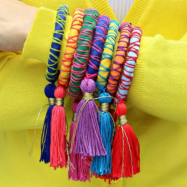 Rope and Tassel Bangles by Mark Montano