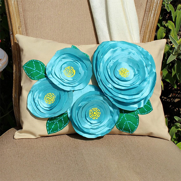 No Sew Flower Pillows by Mark Montano