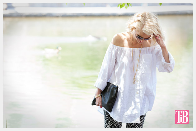 DIY Off the Shoulder Top photo 1 by Trinkets in Bloom