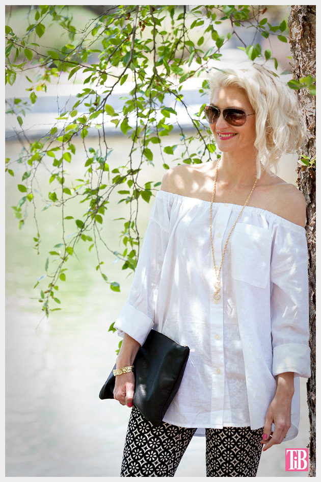 DIY Off the Shoulder Top photo 2 by Trinkets in Bloom