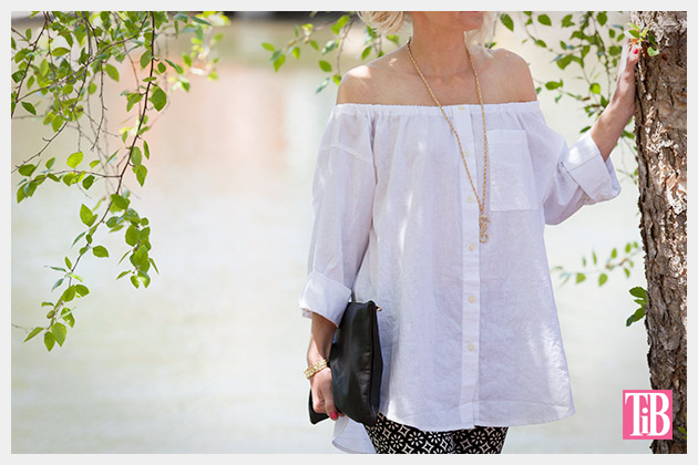 DIY Off the Shoulder Top photo 4 by Trinkets in Bloom