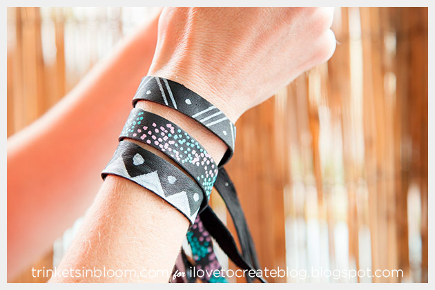 DIY Leather Bracelets by Trinkets in Bloom