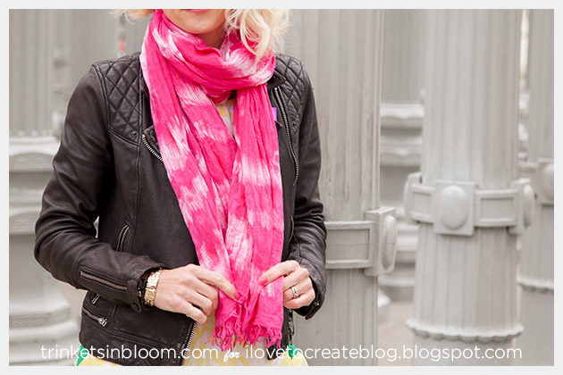 DIY Tie Dyed Scarf by Trinkets in Bloom