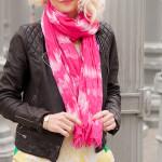 Hot Pink Tie Dye Scarf 630