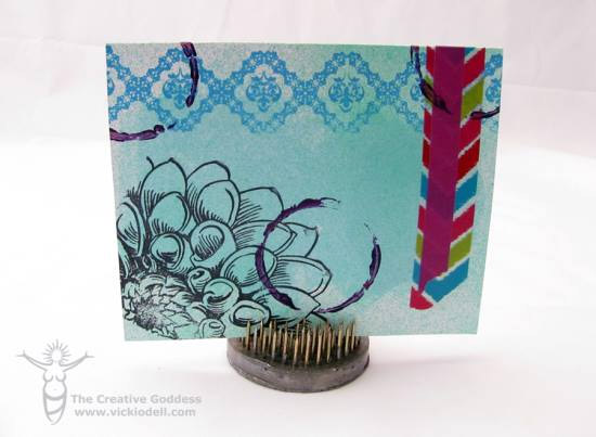 Mixed Media Greeting Card by Vicki O'Dell