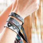 DIY Leather Bracelets with Opaque Fabric Markers 630