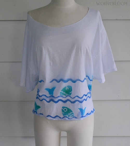 No Sew Open Back Fish Tee by Wobisobi