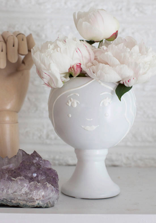 DIY Face Vase by At Home in Love