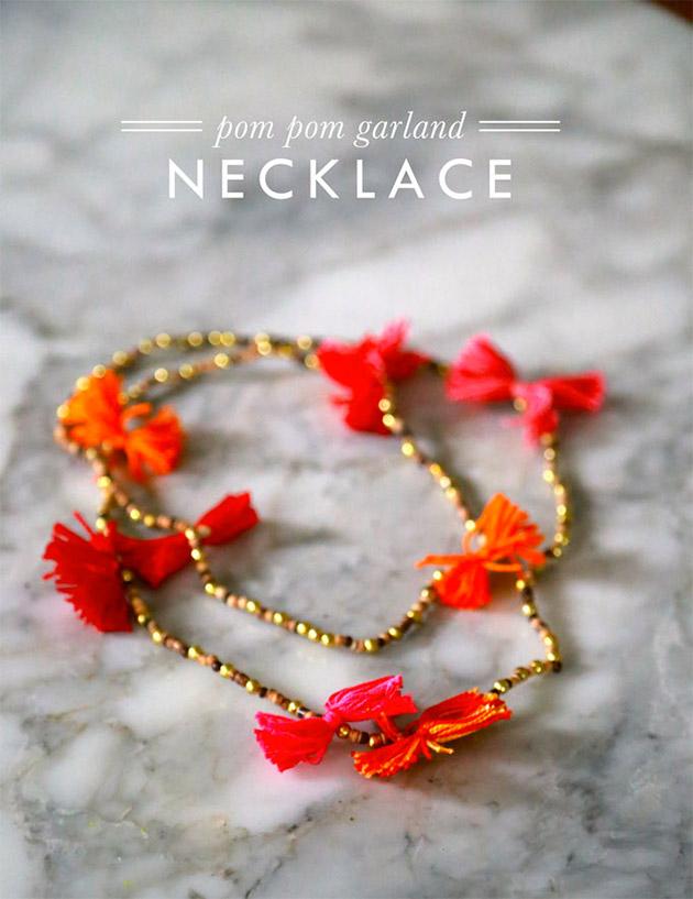 Pom Pom Garland Necklace by Aunt Peaches