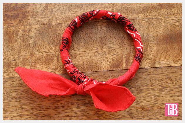 DIY Bandana Bracelets finished by Trinkets in Bloom