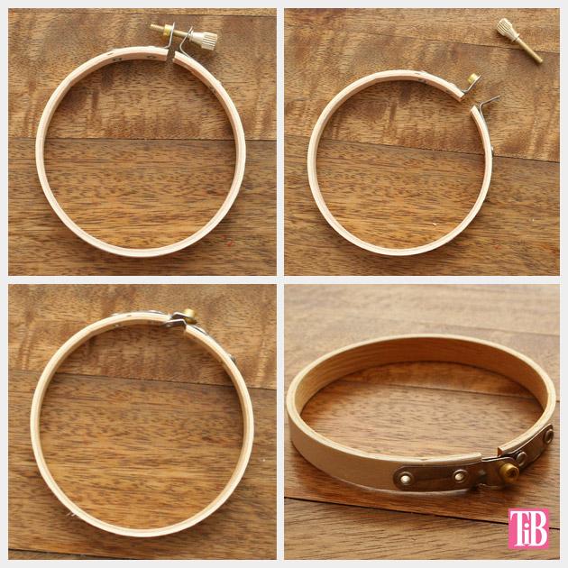 DIY Bandana Bracelets hoops by Trinkets in Bloom