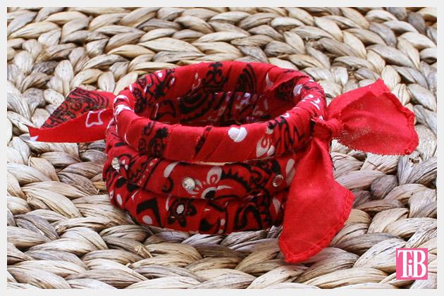 DIY Bandana Bracelets photo 1 by Trinkets in Bloom