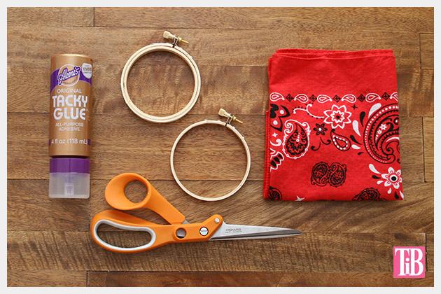 DIY Bandana Bracelets supplies by Trinkets in Bloom