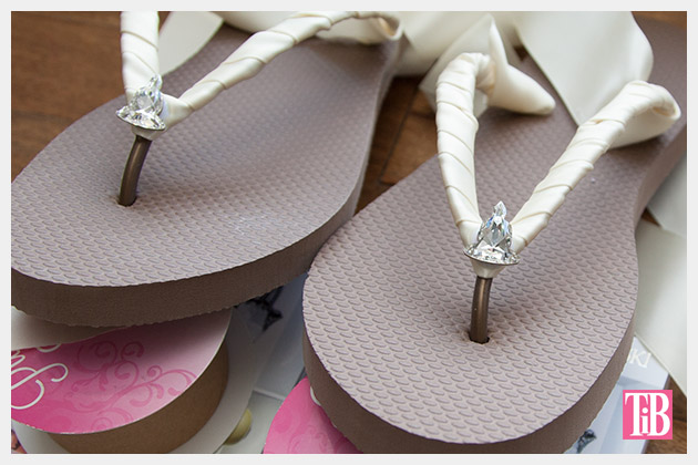 Chanel Inspired Flip Flops crystals