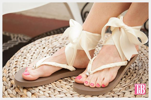 Chanel Inspired Flip Flops Photo by Trinkets in Bloom