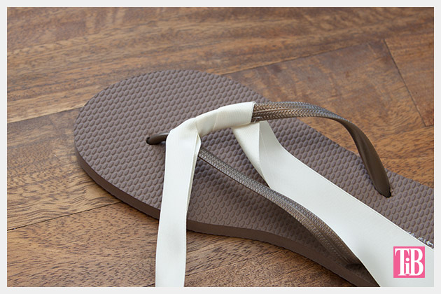 Chanel Inspired Flip Flops wrapping