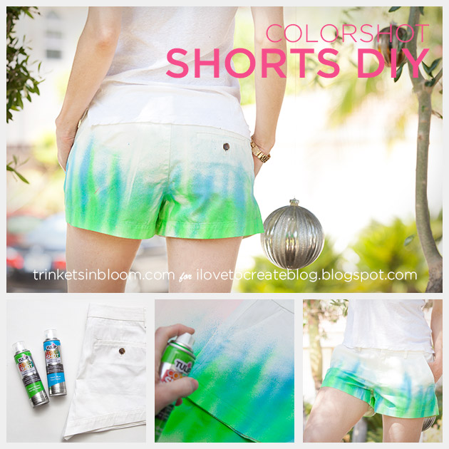 ColorShot Shorts DIY by Trinkets in Bloom
