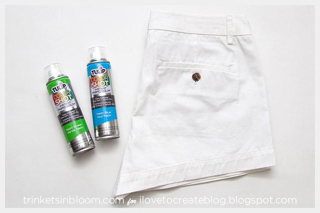 ColorShot Shorts DIY supplies
