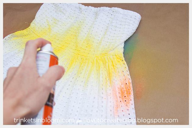 ColorShot Dress spraying second color