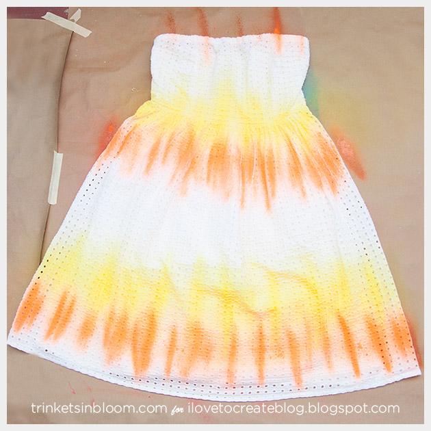 ColorShot Dress spraying second color complete