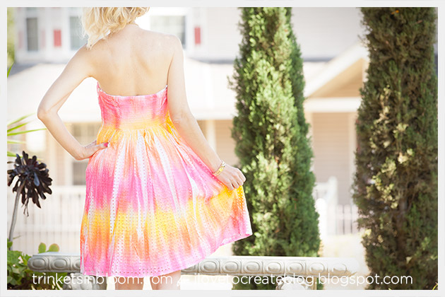 ColorShot Dress back by Trinkets in Bloom