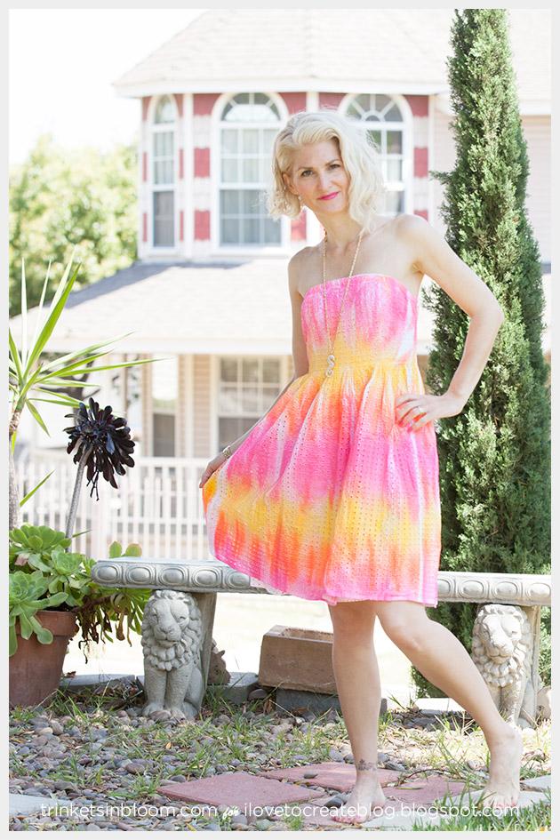 ColorShot Dress front by Trinkets in Bloom