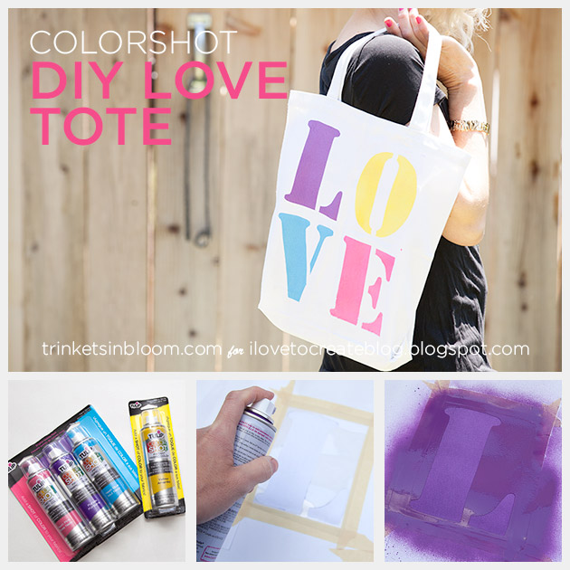 Colorshot Love Tote DIY by Trinkets in Bloom