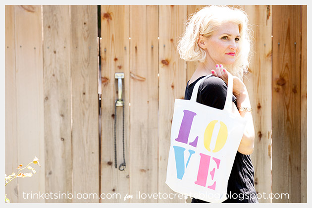 Colorshot Love Tote DIY Photo 1 by Trinkets in Bloom