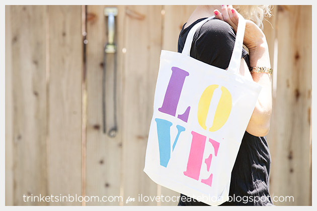Colorshot Love Tote DIY Photo 2 by Trinkets in Bloom