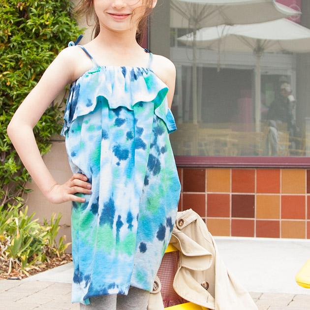 DIY Tie Dye Ruffle Dress 630