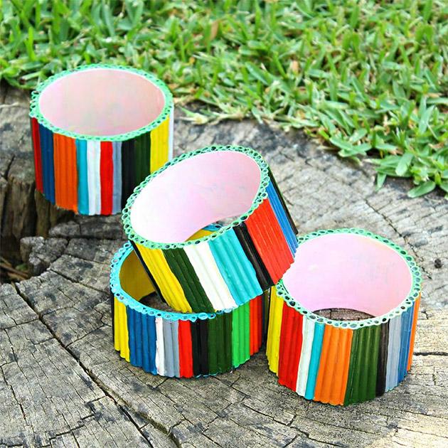 Recycled Magazine Bracelets DIY by Mark Montano