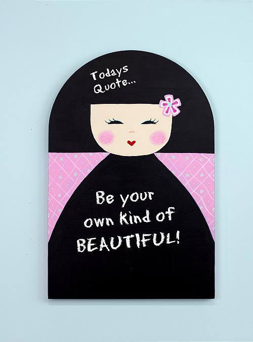 Geisha Girl Chalkboard by Pla Schneider