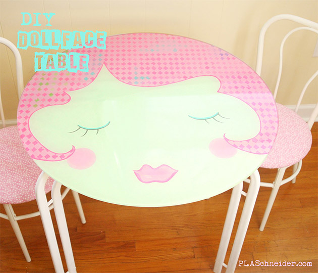 DIY Dollface Table by PLA Schneider
