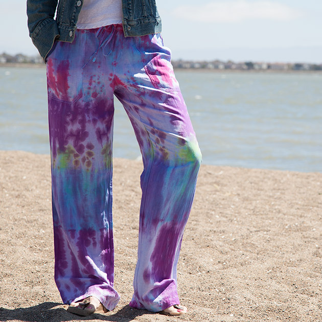 Tie Dye Beach Pants DIY 630