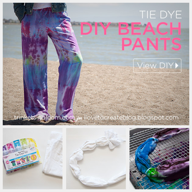 Tie Dye Beach Pants DIY by Trinkets in Bloom