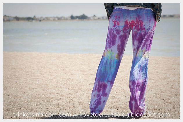 Tie Dye Beach Pants DIY by Trinkets in Bloom