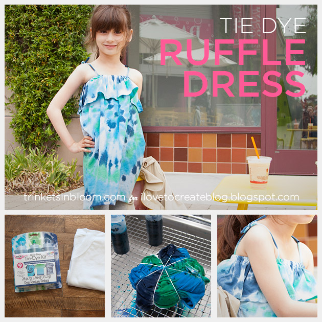 DIY Tie Dye Ruffle Dress by Trinkets in Bloom